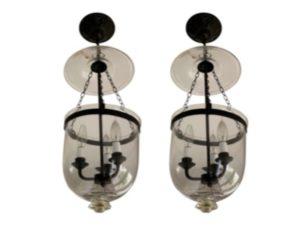 Bell Jar Lanterns, Pair
