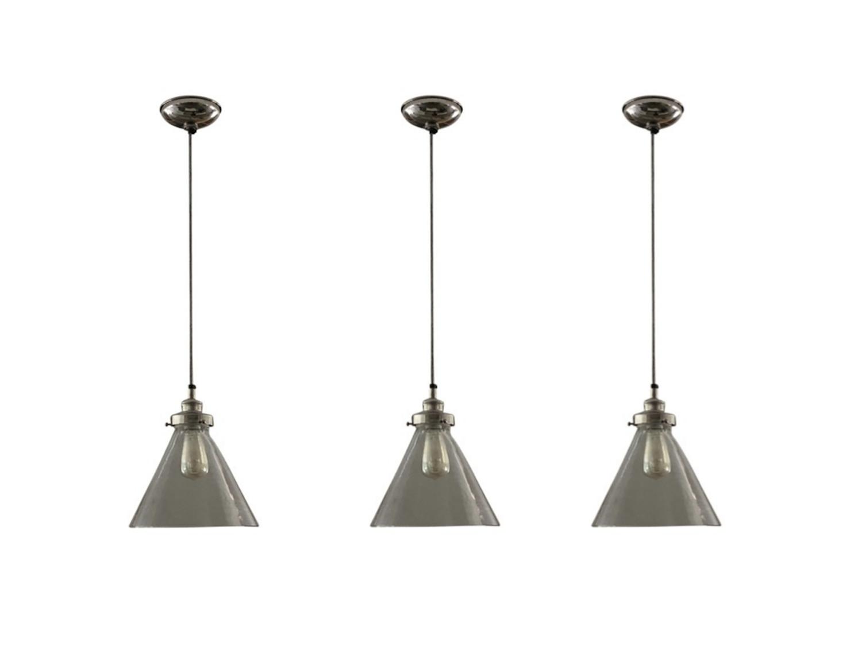 Gl Steel Pendant Lights Set Of 3