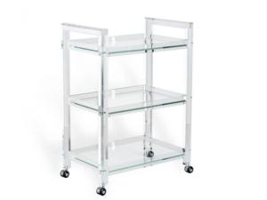 Interlude Home Ava Acrylic Bar Cart
