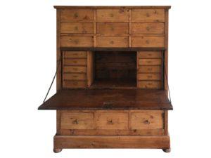 Antique Pine Secretary Cabinet