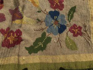 3 x 5 Handmade Greek Wool Needlepoint Kilim, Floral Design