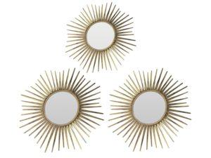 Suzanne Kasler for Ballard Design Sunburst Mirrors, Set of 3