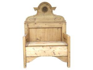 Antique Pine Storage Bench