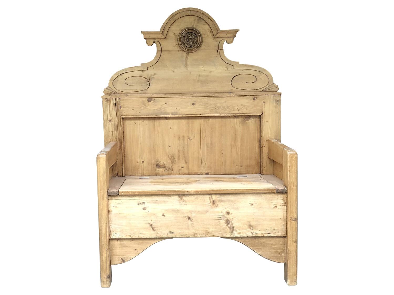 Astonishing Antique Pine Storage Bench Theyellowbook Wood Chair Design Ideas Theyellowbookinfo