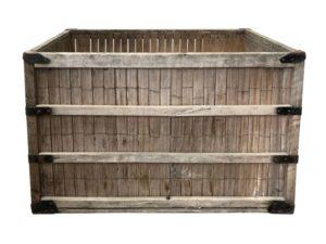 Vintage Industrial Wood & Metal Crate