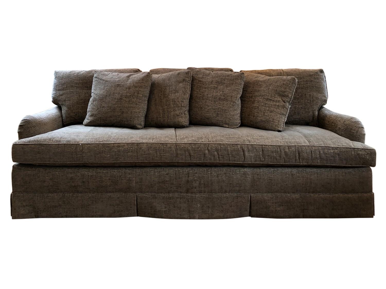 Baker Grey Chenille Single Cushion Sofa