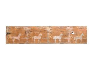 Rutsic Wood Horse Relief Carving