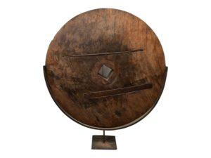 Antique Wood Mill Wheel