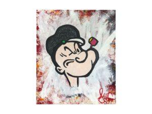 John Codling Painting of Popeye