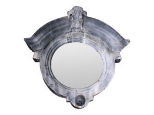 Galvanized Round Mirror
