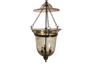 Bell Jar Lantern in Antique Brass