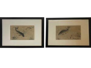 Asian Fish Prints, Pair
