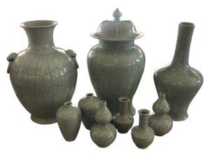 Tozai Crackled Ceramic Vessels