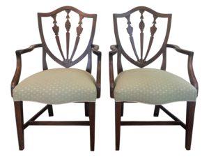 Hepplewhite Style Armchairs, Pair