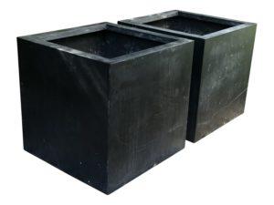 Janus et Cie Box Planter Extra Large – Slate, Pair