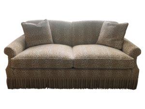 Edward Ferrell Lewis Mittman Skirted Sofa in Cowtan and Touot