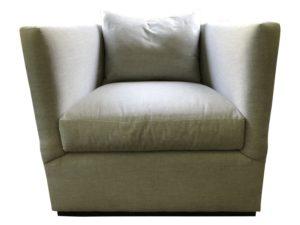 Custom Grey Swivel Chair