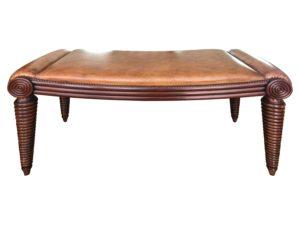 Wood & Hogan Regency Style Mahogany Bench