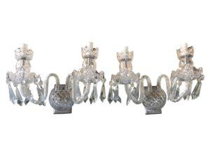Waterford Crystal Sconces, Pair