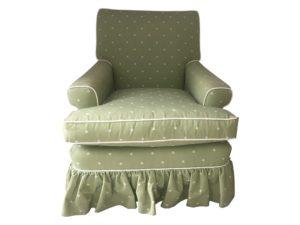 Polka Dot Lime Green Skirted Chair