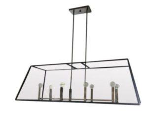 Modern Linear Glass Chandelier