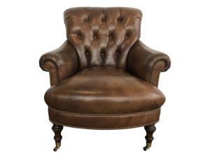 Edward Ferrell Leather Tufted Chair