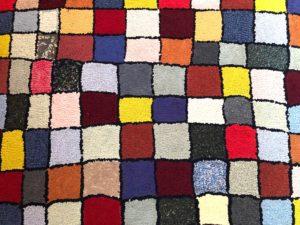 American Geometric Hoooked Wool Rug Runner
