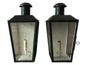Charles Edwards Splay Lanterns, Pair