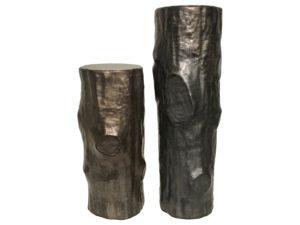 Bronze Ceramic Bark Vases, Set of 2
