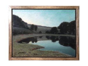 "Charles Vezin ""The Pond"" Oil on Canvas"