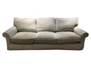 A. Rudin Blue Roll Away Arm Sofa