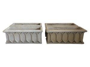 Gothic Style Stone Planters, Set of 4