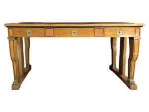 Antique Birdseye Maple Leather Topped Writing Desk