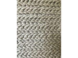 9 x 20 Hand Braided Custom Wool Rug in a Muted Gray Tone