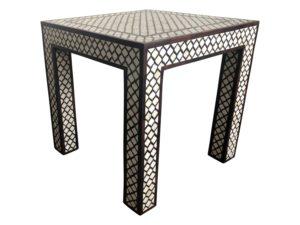 Mughal Wood and Bone Side Table
