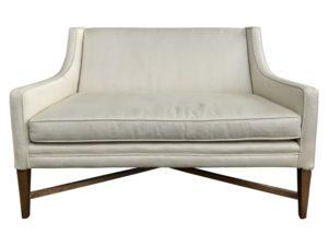 Custom Settee Upholstered in Pollack Fabric