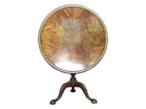 Theodore Alexander Circular Tilt Top Tripod Side Table
