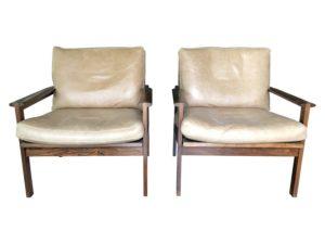 Danish Modern Rosewood Capella Lounge Chairs by Illum Wikkelsø