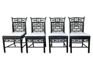 Mandarin Chocolate Tortoise Dining Chairs, Set of 4
