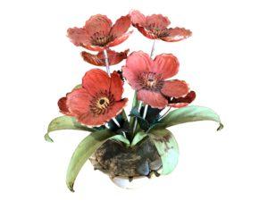 Tole Floral Decorative Piece