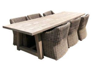 Restoration Hardware Teak Table & Provence  Arm Chairs, Set of 6