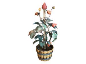 Tole Strawberry Decorative Piece