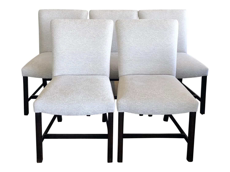 Custom Erika Brunson Upholstered Dining Chairs 5 The Local Vault