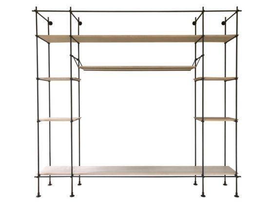 Custom Wall Extra Large Iron and Wood Bookcase
