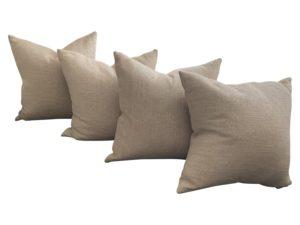 Metallic Linen Pillows, set of 4