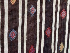 7 x 9 Brown Dhurrie Style Rug