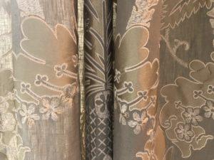 Schumacher Custom Silk Curtains, Set of 4