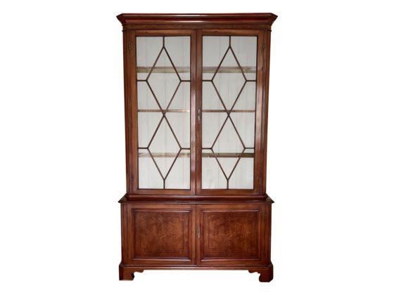 Georgian Style English Mahogany Two Door Cabinet