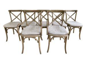 Restoration Hardware Madeleine Dining Chairs, Set of 7