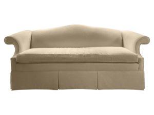 Camel Back Rolled Arm Single Cushion Sofa